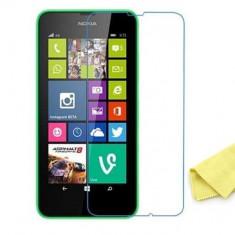 Folie sticla Lumia 630 * Transport gratuit * Tempered glass - Folie de protectie Nokia, Lucioasa