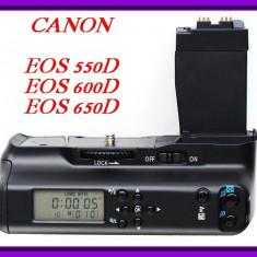 Grip canon 550d 600d 650d 700d display lcd si telecomanda