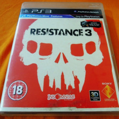 Joc Resistance 3, PS3, original, alte sute de jocuri! - Jocuri PS3 Sony, Shooting, 16+, Single player