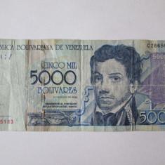 VENEZUELA 5000 BOLIVARES 2004