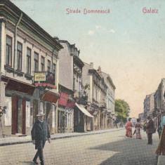 GALATI, STRADA DOMNEASCA, MAGAZINE, DENTIST, RECLAME, ED. ANTON PAPPADOPOL - Carte Postala Moldova 1904-1918, Stare: Necirculata, Tip: Printata