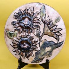 APLICA-FARFURIE LUCRATA MANUAL, FLOAREA SOARELUI STILIZATA B 88 - Arta Ceramica
