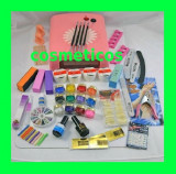 Kit set unghii false gel - lampa,pila,cleste - KIT 4 gel ccn + 12 gel color