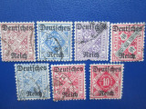 TIMBRE GERMANIA REICH SET STAMPILAT