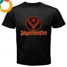 Tricou Personalizat Jagermeister - Tricou barbati, Marime: XS, S, M, L, XL, XXL, XXXL, Culoare: Alb, Negru, Maneca scurta, Bumbac