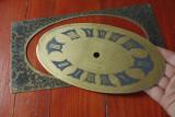 Cadran de ceas din alama / pentru restaurat ceasuri !!!