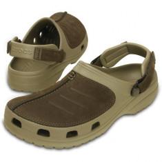 Saboti Crocs Yukon Mesa Clog M (CRC203261-23G) - Papuci barbati Crocs, Marime: 40.5, 41.5, 42.5, 43.5, 44.5, 45.5, 46.5, Culoare: Maro