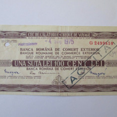 CEC DE CALATORIE 100 LEI BRCE 4 AUGUST 1975