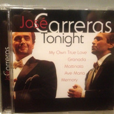 JOSE CARRERAS - TONIGHT (2000/ PHILIPS REC/ GERMANY) - CD NOU/Sigilat/Original - Muzica Clasica universal records