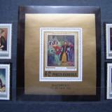 "Romania 1973 LP 826 si 827 - serie si colita nest. MNH ""Expozitia Socfilex III"" - Timbre Romania, Nestampilat"
