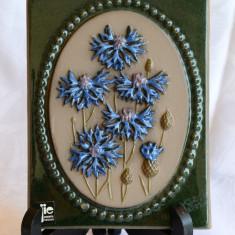 FRUMOASA APLICA - TABLOU DIN CERAMICA JIE, FLORI DE CAMP L2 - Arta Ceramica