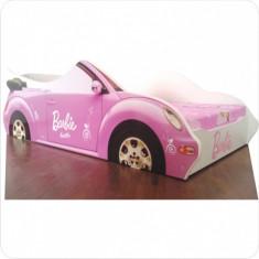 Pat copii masina Barbie - Pat tematic pentru copii Altele, Altele, Alte dimensiuni, Roz