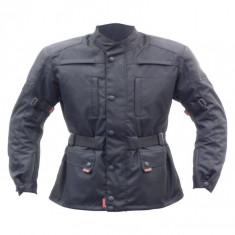 Jacheta Moto Marime XL Negru, material NEW-TEX cu elemente de siguranta integrate - Imbracaminte moto
