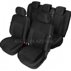 Set huse scaun model Poseidon Negru pentru Seat Altea, set huse auto Fata + Spate - Husa scaun auto KEGEL-BLAZUSIAK