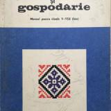 LUCRU DE MANA SI GOSPODARIE. Manual pentru clasele V-VIII - E. D. Tomozei