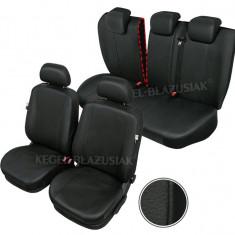 Huse scaune auto imitatie piele Chevrolet Aveo set huse fata + spate - Husa scaun auto