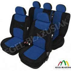 Set huse scaune auto SportLine Albastru pentru Seat Altea - Husa scaun auto KEGEL-BLAZUSIAK