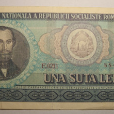 100 lei 1966 - Bancnota romaneasca
