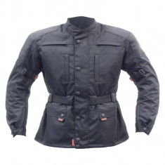 Jacheta Moto Marime S Negru, material NEW-TEX cu elemente de siguranta integrate - Imbracaminte moto, Geci