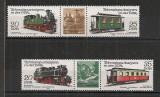 D.D.R.1980 Locomotive si vagoane-streif  CD.1187, Nestampilat