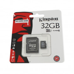 Card de memorie Kingston microSDHC 32GB Class 10 + Adaptor - Card Micro SD