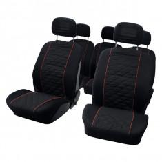 Set huse scaune auto pentru VW Touran 10 bucati pentru 5 scaune separate - Husa Auto