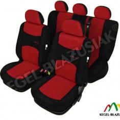 Set huse scaune auto SportLine Rosu pentru Dacia Logan - Husa Auto
