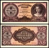 UNGARIA BANCNOTA DE UN MILIARD PENGO 1946 NECIRCULATA UNC