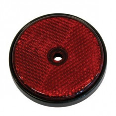 Catadioptru reflectorizant rotund rosu Carpoint 70mm, 2 buc.