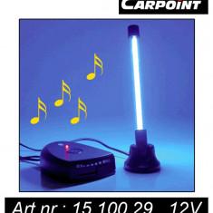 Lampa auto interior Carpoint 12V 1, 8W 150mA, cu Neon de 10cm, Dancing Music, 1 buc. - Ornamente interioare auto
