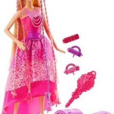 Papusa Mattel Barbie Endless Hair Kingdom Snap 'N Style Princess, 4-6 ani