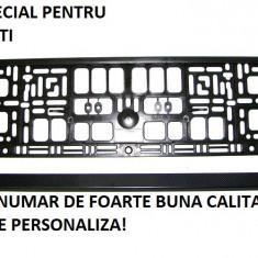 Suport numar inmatriculare auto negru - 20 bucati la pachet FOARTE BUNA CALITATE - Suport numar Auto