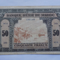 MAROC 50 Francs 1943 VF - bancnota africa