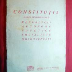 Constitutia Republicii Autonome Sovietice Socialiste Moldovenesti 1938 - Carte Drept constitutional