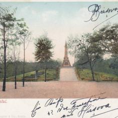 BRAILA  ,  MONUMENTUL , ED. J. GHEORGIU & CO , BRAILA , CLASICA , CIRC.  1902, Circulata, Printata