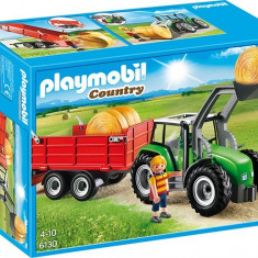 Tractor Mare Cu Remorca Playmobil