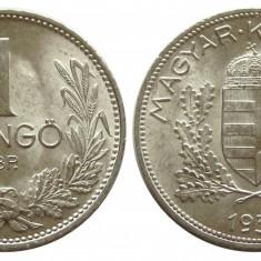 UNGARIA 1 PENGO 1939 ARGINT NECIRCULATA UNC