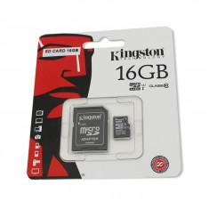Card de memorie Kingston microSDHC 16GB Class 10 + Adaptor - Card Micro SD