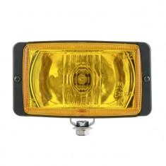 Set Proiectoare auto halogen de drum carcasa neagra geam galben 12/24V 138x78x60mm set 2 buc