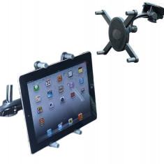 Suport auto Carpoint pentru tableta si iPad cu dimensiunea de 16-20cm, fixare cu ventuza sau la tetiera - Suport auto tableta