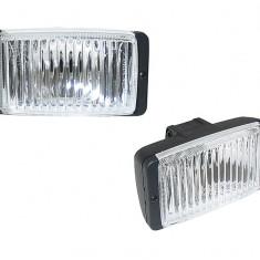 Set 2 proiectoare auto Wesem 12V 55W cu bec H3 sau H3 24V 70W, dimensiuni 138x78x68 cu lumina de ceata