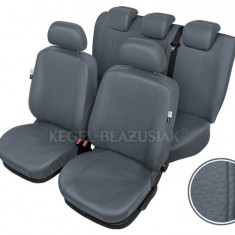 Huse scaune auto imitatie piele Daewoo Matiz set huse fata + spate Culoare Gri - Husa scaun auto KEGEL-BLAZUSIAK