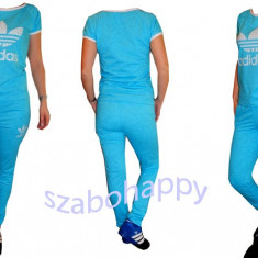 Trening Adidas pentru dama! - Trening dama Adidas, Marime: M, Culoare: Turcoaz, Bumbac