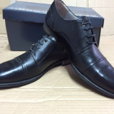 Pantofi PIELE NATURALA BIGOTTI negru marimea 45 - Pantofi barbat