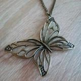 Pandantiv Colier Lantisor Fluture/ Fluturas Bronz