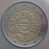 "GERMANIA KM#306 - 2 Euro 2012 ""10 ANI MONEDE EURO"", Europa"