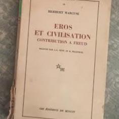 Eros et civilisation : contribution a Freud / Herbert Marcuse - Carte Filosofie