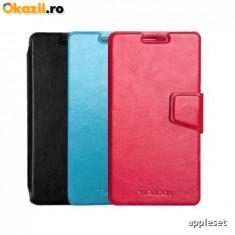 Husa Vodafone Smart Prime 6 Flip Case Inchidere Magnetica Albastra, Alt model telefon Allview, Albastru, Piele Ecologica