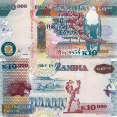 ZAMBIA 10.000 kwacha 2008 UNC!!!