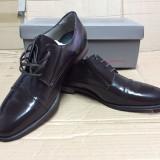 Pantofi PIELE NATURALA tosoni maro MARIMEA 45 - Pantofi barbat